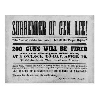 Entrega de general Lee Postales