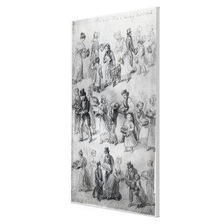 Entrega de la cena, 1841 lienzo envuelto para galerias