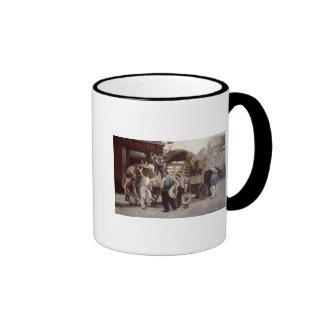 Entrega de la harina, 1885 taza de café