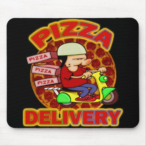 Entrega de la pizza alfombrilla de raton