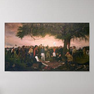 Entrega de Santa Ana a Sam Houston en San Jacinto Póster
