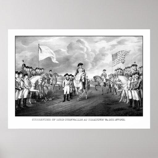 Entrega de señor Cornwallis At Yorktown Póster