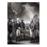 Entrega de señor Cornwallis en Yorktown, 1781 Tarjetas Postales