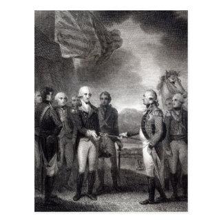 Entrega de señor Cornwallis en Yorktown 1781 Tarjetas Postales