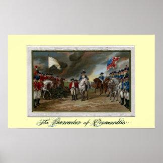 Entrega de señor Cornwallis en Yorktown Impresiones