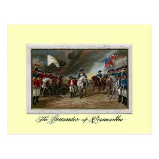 Entrega de señor Cornwallis en Yorktown Postal