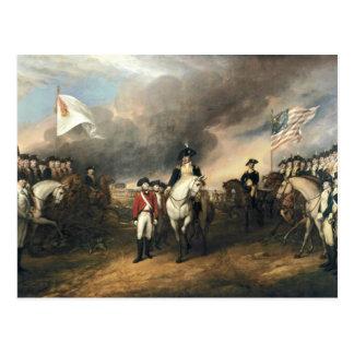 Entrega de Yorktown de Juan Trumbull Tarjeta Postal