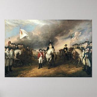 Entrega de Yorktown por el poster de Juan Trumbull Póster