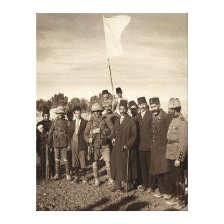 Entrega del imperio otomano de Jerusalén 1917 Lona Estirada Galerias