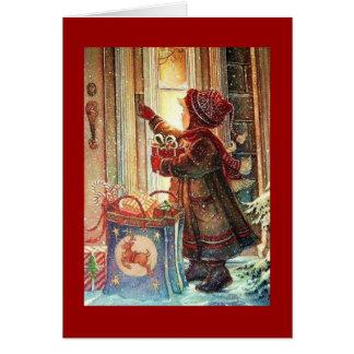 Entrega del navidad tarjetón