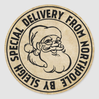 Entrega especial del sello de Northpole Pegatina Redonda