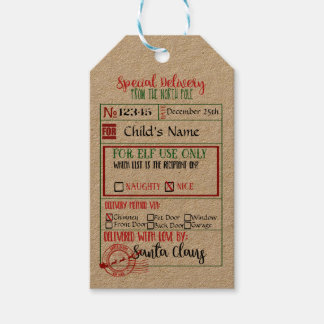Entrega especial - etiquetas del regalo de Santa - Etiquetas Para Regalos