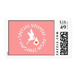 Entrega especial - franqueo sello postal