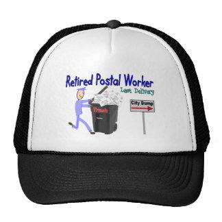 Entrega jubilada del último del empleado de correo gorra