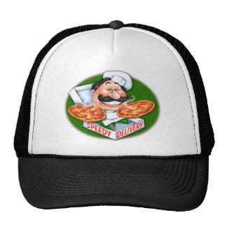 Entrega rápida de la pizza del cocinero italiano t gorra