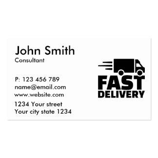 Entrega rápida tarjetas de visita