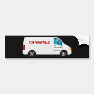 Entrega Van blanca - personalizable Pegatina Para Auto