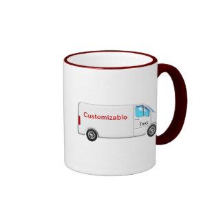Entrega Van blanca - personalizable Taza De Café