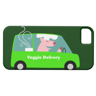 Entrega vegetariana de la comida iPhone 5 funda