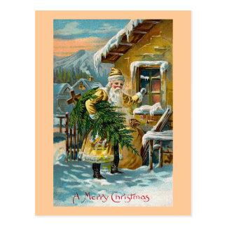 """""""Entregando los regalos del navidad """" Postal"""