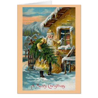 """""""Entregando los regalos del navidad """" Tarjeta De Felicitación"""
