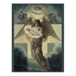 Entregue del niño de Cristo por el ángel Gabriel Tarjetas Postales