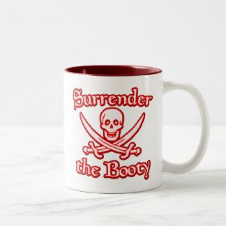 Entregue el botín taza de café