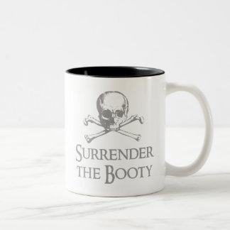 Entregue el botín tazas de café