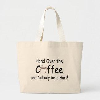 Entregue el café y nadie consigue daño bolsa de mano