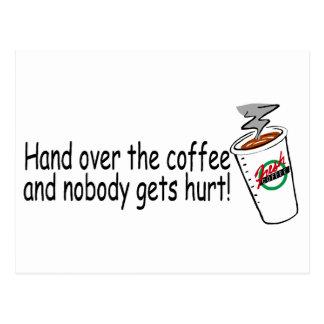 Entregue el café y nadie consigue el daño 2 postal