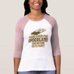 Entregue el chocolate camisetas