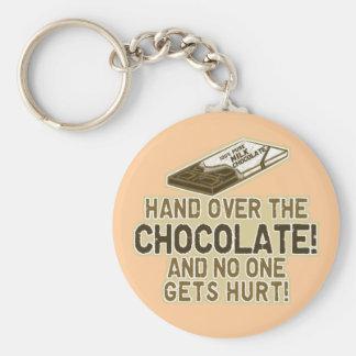 Entregue el chocolate llavero personalizado