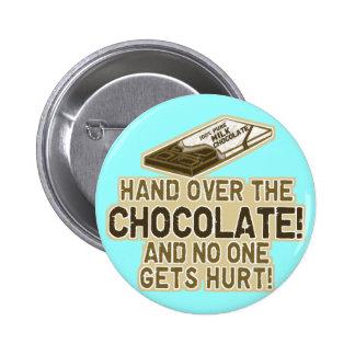 Entregue el chocolate pins