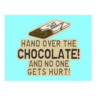 Entregue el chocolate postales