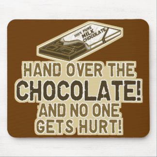 Entregue el chocolate tapetes de raton