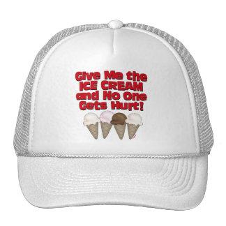 Entregue el helado gorras