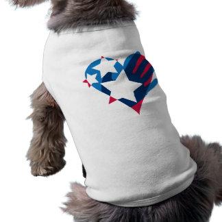 Entregue su camiseta del mascota del corazón playera sin mangas para perro