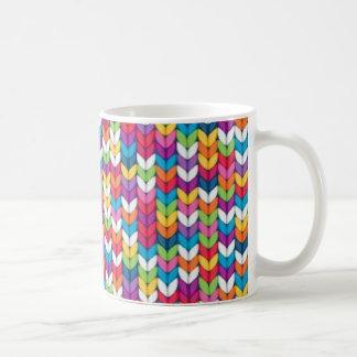 entrelaçado de tecidos coffee mug
