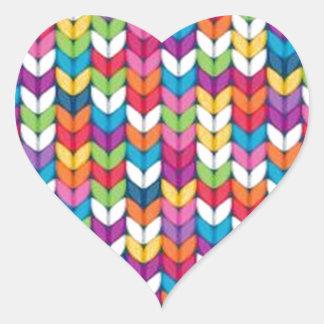 entrelaçado de tecidos heart sticker