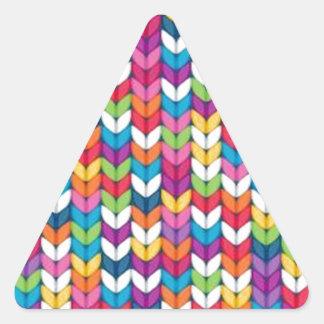 entrelaçado de tecidos pegatina triangular