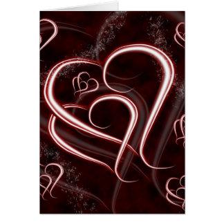 Entrelazado para siempre ame los corazones tarjeta de felicitación