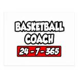 Entrenador de béisbol 24-7-365 tarjetas postales