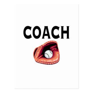 Entrenador de béisbol (bola y guante) postales