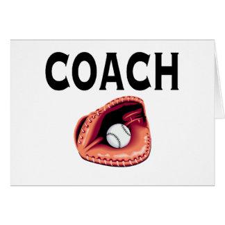 Entrenador de béisbol (bola y guante) tarjeton
