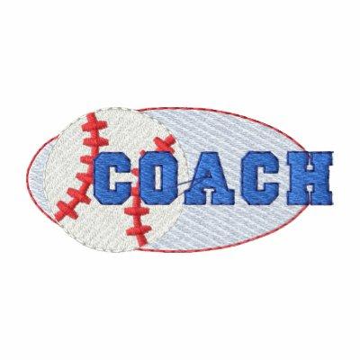 Entrenador de béisbol camiseta polo bordada