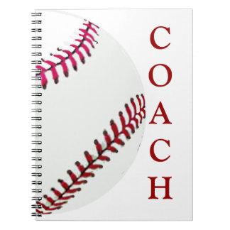 Entrenador de béisbol notebook
