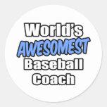 Entrenador de béisbol de Awesomest del mundo Pegatinas