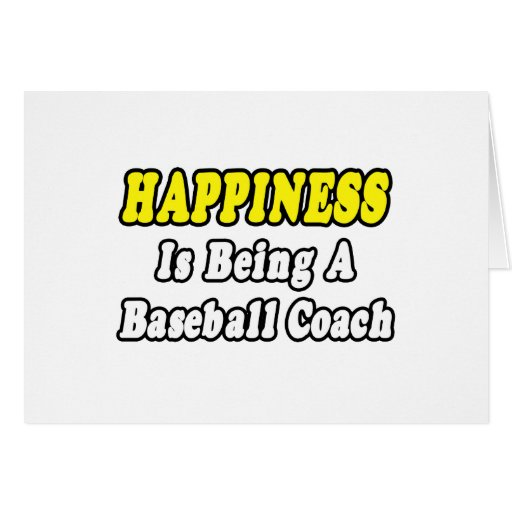 Entrenador de béisbol de la felicidad… tarjeta de felicitación