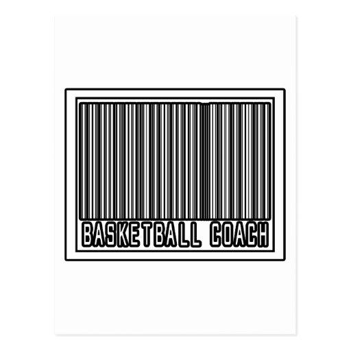 Entrenador de béisbol del código de barras tarjeta postal