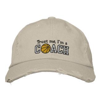 Entrenador de béisbol divertido gorra de béisbol bordada
